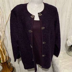 Cathy Daniels Layered Purple Jacket Size XL